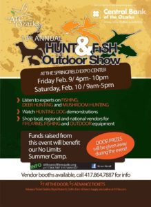 The ARC of the Ozarks show, Stop at our booth - Glenn Rosser, Table Rock Fishing Guide